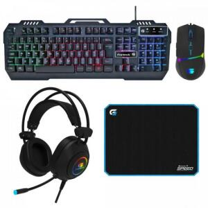 Kit Periféricos Gamer CRUSADER FORTREK | R$301
