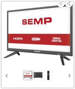 "[Reembalado] TV LED 24"" Semp S1300 HD Conversor Digital Integrado 2 HDMI 2 USB   R$ 441"
