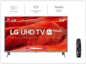 [Reembalado] Smart TV Led 50'' LG 50UM7500 Ultra HD 4K   R$ 1890