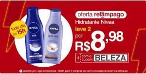 [APP] Hidratante Nivea - 2 unidades por R$9