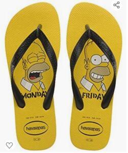 (Prime) Chinelo Simpsons, Havaianas, Adulto Unissex | R$25