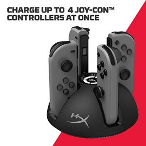 [Prime] HyperX ChargePlay Quad - Carregador para Joy-Con   R$100