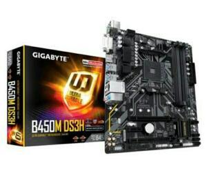 Placa-Mãe Gigabyte B450M DS3H V2, AMD B450, mATX, DDR4 (rev. 1.0) | R$590