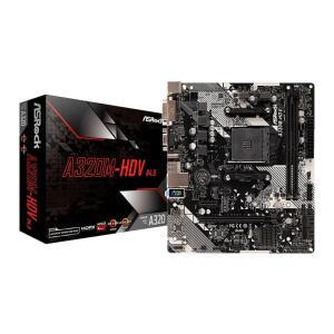 Placa Mae ASRock A320M-HDV R4.0 DDR4 Socket AM4 | R$439