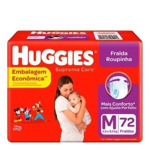Kit 2 Fralda Huggies Roupinha Supreme Care M 72 Unidades| R$77