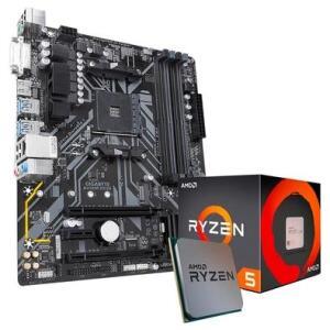 Kit Processador AMD Ryzen 5 1600, Cache 19MB, 3.2GHz + Placa-Mãe Gigabyte B450M DS3H | R$1.254