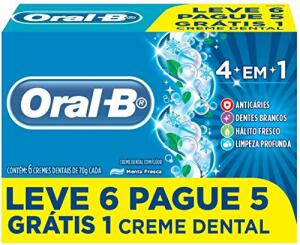 [PRIME] 6 UNID. Creme Dental Oral-B 4 em 1 70g | R$3,15