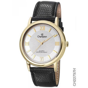 [AME R$ 49] Relógio Masculino Dourado Champion Pulseira Couro Original | R$ 98