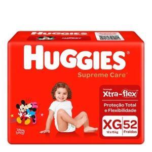 Kit 2 Fralda Huggies Supreme Care XG 52 Unidades | R$69