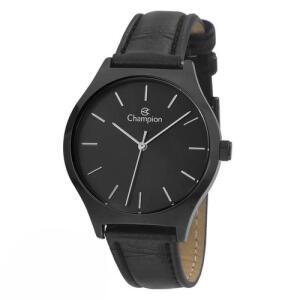 [AME R$ 53] Relógio Feminino Preto Champion Original Pulseira de Couro | R$ 106