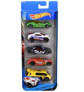 Pacote 5 Carros Sortidos, Hot Wheels, Mattel R$40