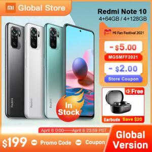 Smartphone Xiaomi Redmi Note 10 - 4GB+64GB/4GB+128GB/6GB+128GB | Global Version | R$ 1149