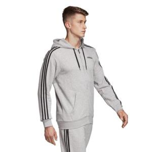 Jaqueta Adidas 3S com Capuz Masculina - Cinza+Preto | R$140