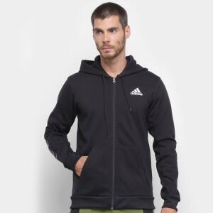 [App] Jaqueta de Moletom Com Capuz Adidas Sport Bb Masculina - Preto | R$125