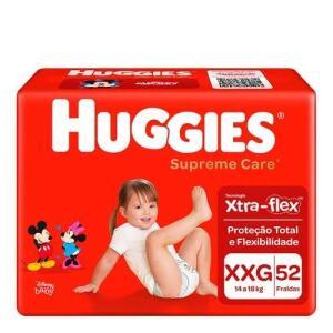 2 pacotes | Fralda Huggies Supreme Care XXG 52 Unidades | R$0,66 a tira | R$35