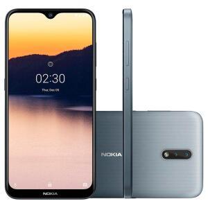 Smartphone Nokia 2.3, 32GB, 13MP, Tela 6.2´, Cinza   R$673