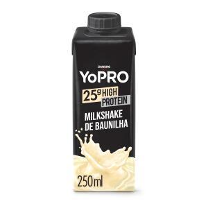 YoPRO Bebida Láctea UHT Baunilha 25g de proteínas 250ml   R$6