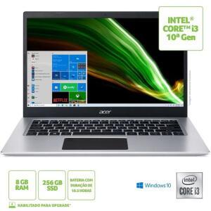 Notebook Acer Aspire 5 A514-53-39KH Intel Core I3 8GB RAM 256GB SSD 14' Windows 10 R$3100