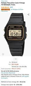 Relógio Masculino Casio Vintage F91WG9QDF, Preto | R$ 119,90