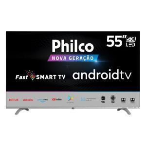 "[REEMBALADO] Smart Tv Philco 55"" Led Borderless 4k, Fast Smart | R$2.080"
