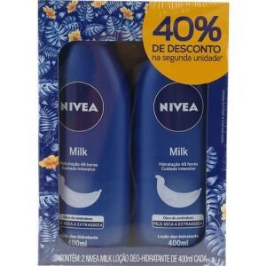 Hidratante Nivea Milk 2 Unidades 400ml Cada | R$ 21
