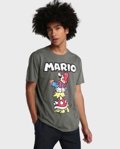 Camiseta Super Mario - Cinza Chumbo R$30