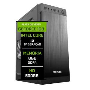 Computador Fácil Intel Core I5 9400F 2.90ghz 8gb Ddr4 HD 500 GB VGA 1 GB GT210 | R$2181