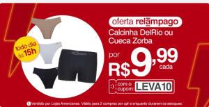 [App] Kit 3 Calcinhas DelRio ou 01 cueca Zorba | R$10