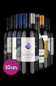 Kit 10 vinhos + frete grátis
