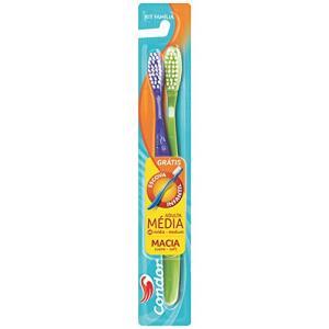 (Prime+Recorrência) Escova Dental Kit Família, Condor, Multicor   R$2,20