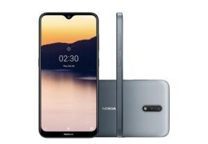 Smartphone Nokia 2.3, 32GB, 13MP, Tela 6.2´, Cinza - NK003 | R$599