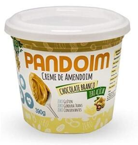 [PRIME] Pandoim Chocolate Branco Creme de Amendoim 390g Zero Açúcar | R$13