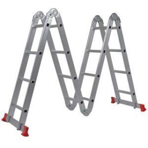 Escada Articulável em Alumínio com 16 Degraus e 4,7 metros de altura máxima | R$435