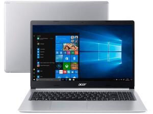 Notebook Acer Aspire 5 A515-54G-53GP Intel Core i5 - 8GB 256GB SSD, Placa NVIDIA MX250 2GB, Windows 10 Home, 15.6´, | R$3744