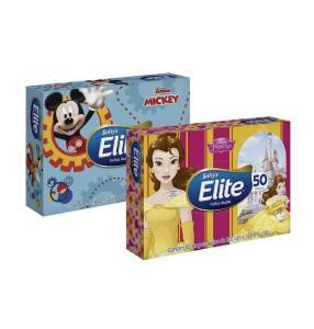 [PRIME & RECORRÊNCIA] Lenços de Papel Elite Kids Folha Dupla, 50 unidades de 21x14,08 cm | R$3,51