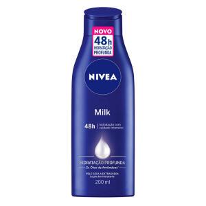 Kit Nivea Loção Body Milk Pele Extra Seca 200ml Com 2 Unidades | R$14
