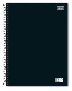 Tilibra ZIP - Caderno Espiral Capa Dura, 200x275mm, 80 Folhas, Negro | R$7