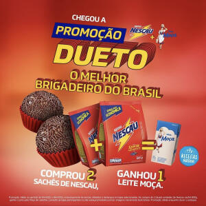 Promoção Dueto Nescau + Moça