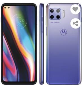 "Smartphone Claro Motorola Moto G 5G Plus Lilás 128GB, 8GB RAM, Tela de 6.7"" | R$2069"