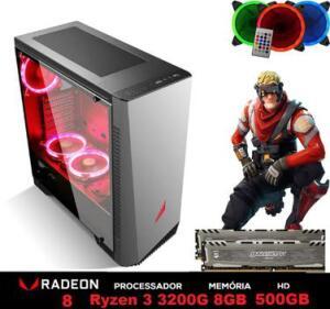 PC Gamer Explose Z6-1 AMD Ryzen 3200G 4.0GHZ 8GB BALLISTIX 2666MHZ DDR4 HD 500GB - 3Green | R$2209