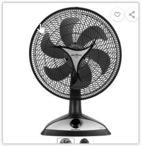 [REEMBALADO] Ventilador de Mesa Britânia BVT45 Turbo 3 Velocidades 40cm de diâmetro - Preto | R$ 80