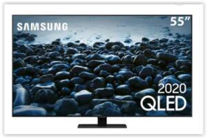 "Smart TV QLED 55"" 4K Samsung 55Q80T Pontos Quânticos, | R$ 4794"