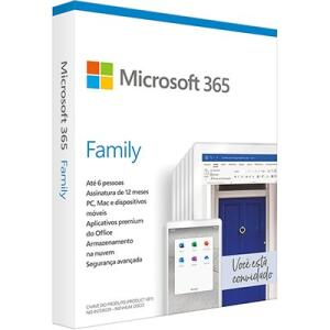 Microsoft 365 Family: 1 licença p/ até 6 usuários | R$149