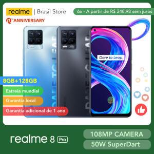 [Novos usuários] Smartphone Realme 8 PRO 8GB + 128GB | R$1505