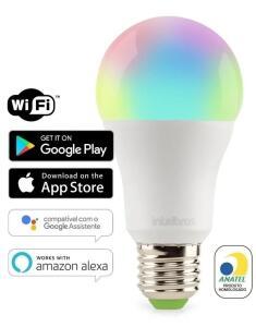 [PRIME] Smart Lâmpada Wi-Fi Intelbras 10W E27 Bivolt | R$64