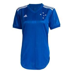 Camisa Cruzeiro I 20/21 s/nº Torcedor Adidas Feminina - Azul | R$104