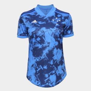 Camisa Cruzeiro III 20/21 s/n° Torcedor Adidas Feminina - Azul Escuro | R$120