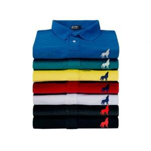 Kit com 10 camisas polo masculinas   R$240