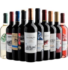 Kit 10 vinhos por R$21,90 cada | R$219