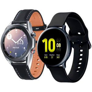 (APP) Galaxy Watch 3 41mm Lte - Prata + Galaxy Watch Active 2 - Preto   R$2099